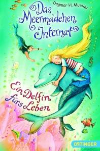 Das Cover zeigt Meermädchen Alani, das auf einem Delfin reitet.