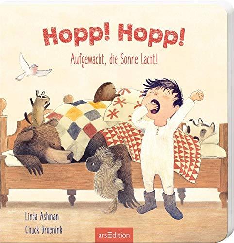 Linda Ashman, Chuck Groenink: Hopp! Hopp! Aufgewacht, die Sonnelacht